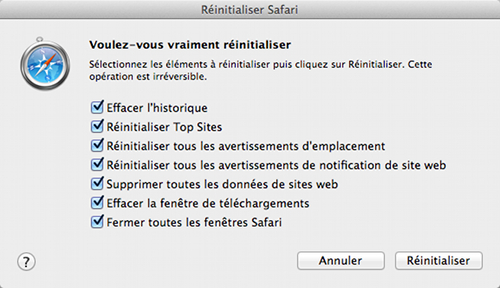 safari-reinitialiser